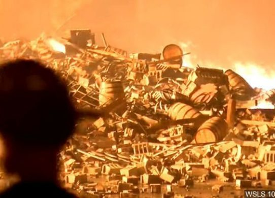 Thousands of fish perish after fire at Jim Beam warehouse
